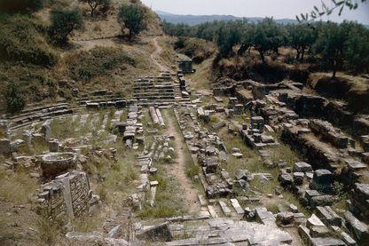 Ruines du théâtre de l'Acropole de Sparte