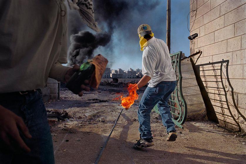 """""""Territoires palestiniens occupés, Cisjordanie, 2000"""" de James Nachtwey"""