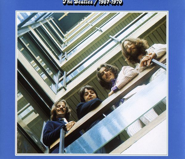 CD Beatles Album bleu