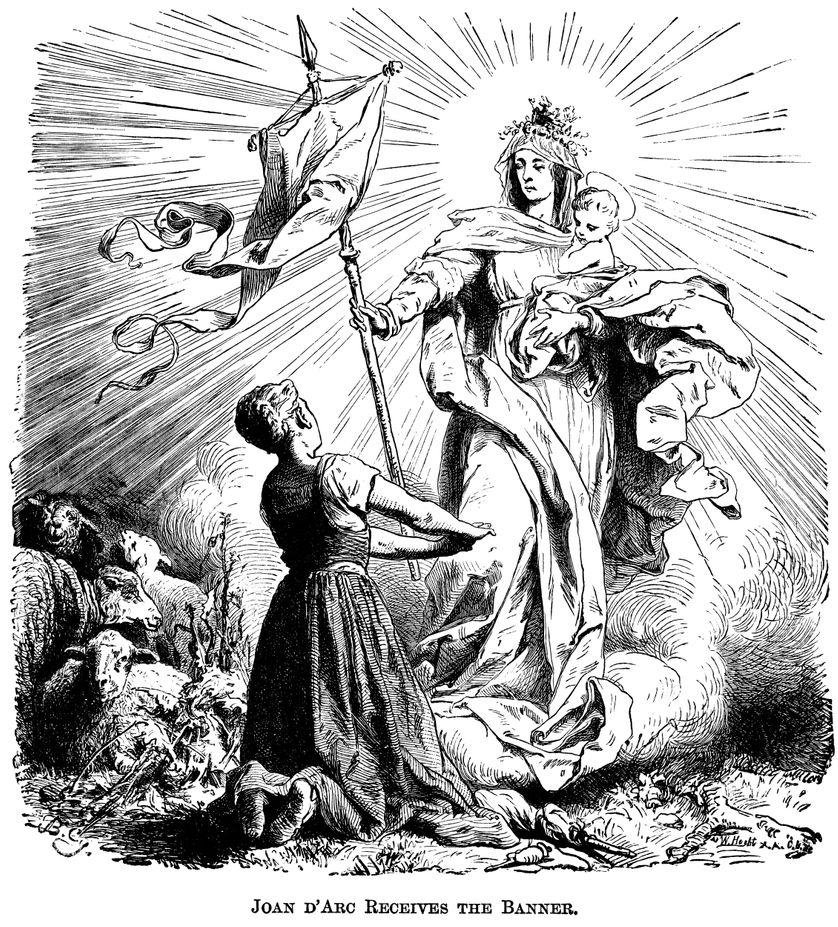 Jeanne d'Arc recevant la bannière de la foi