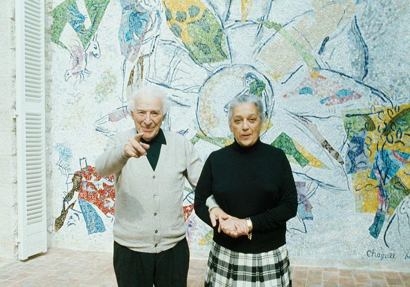 Marc Chagall avec sa femme Valentina Brodsky, connue sous le nom de 'Vava'.