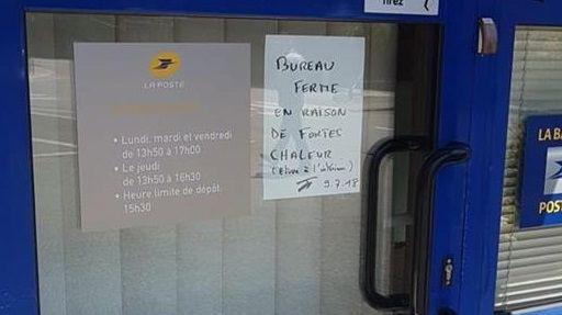 Morbihan : le bureau de poste ferme à cause de la chaleur !