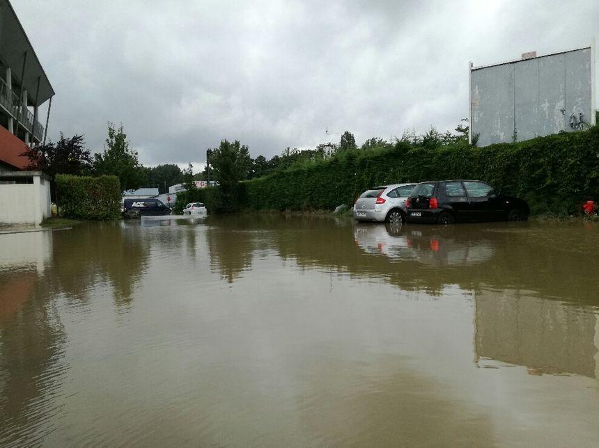 Inondation quartier Saint-Frédéric à Bayonne