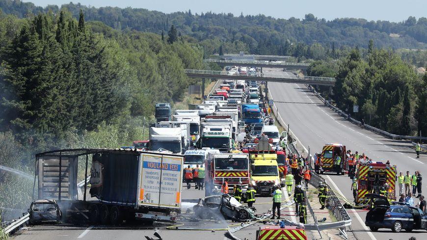 L'accident sur l'A7 a provoqué mercredi la mort de trois personnes