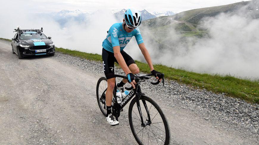 Christopher Froome s'est entraîné en juin dernier au Col du Portet