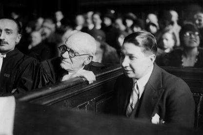 Violette Morris, sportive de haut niveau, pendant son procès intenté à la fédération française du sport féminin le 26 février 1930.