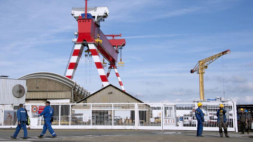 Les Chantiers de l'Atlantique à Saint-Nazaire