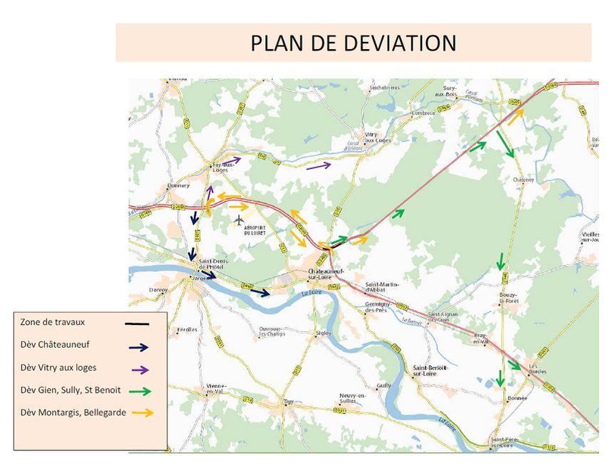 Le plan des travaux pendant la déviation sur la RD 2060.