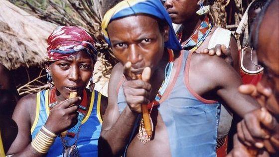 Flûte en corne de chamois (nay malkiti)