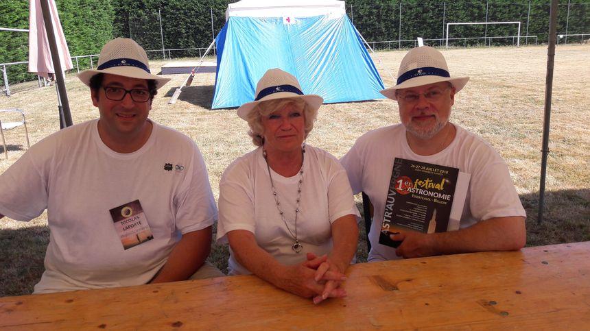 Nicolas Laporte, Maryvonne Chanet et Jacques Dervieux, membres des associations organisatrices du festival