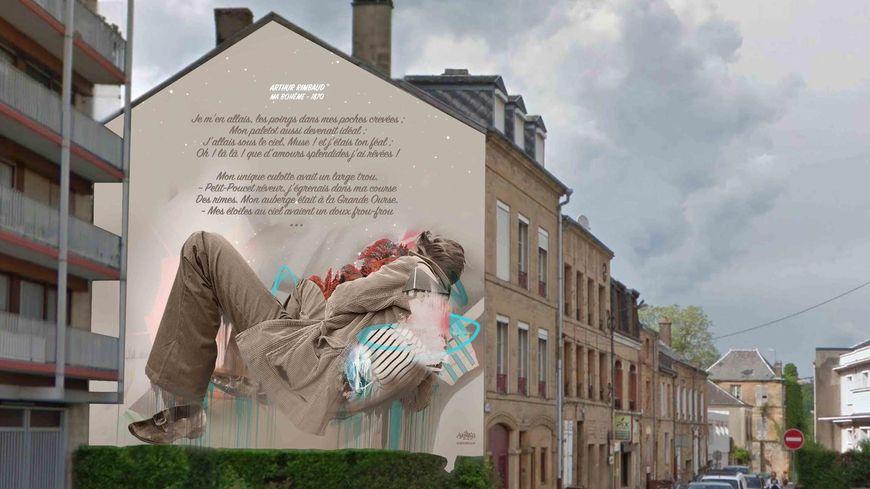 """Le projet de fresque murale """"Ma Bohême"""", rue de Gonzague"""