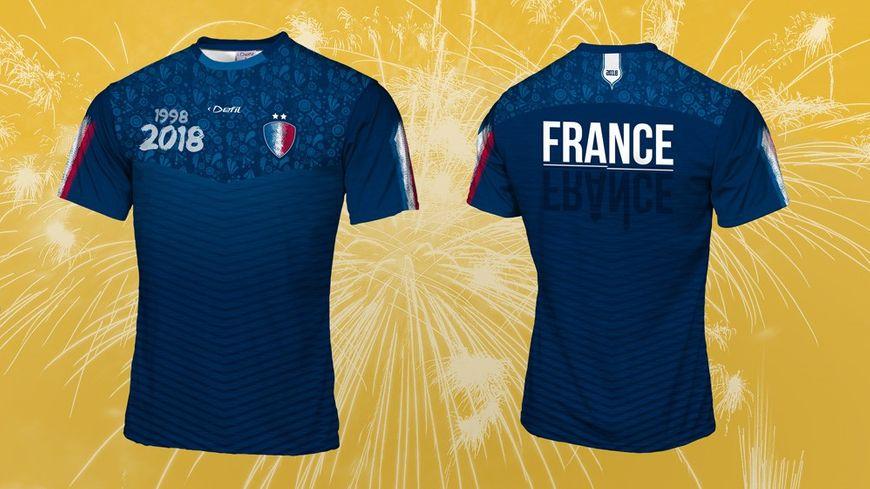 La France championne du monde : un maillot avec les deux