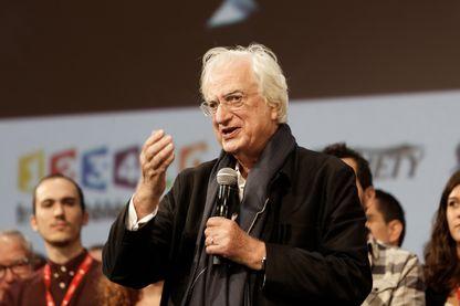 Bertrand Tavernier en octobre 2017 à Lyon pendant le Festival Lumière