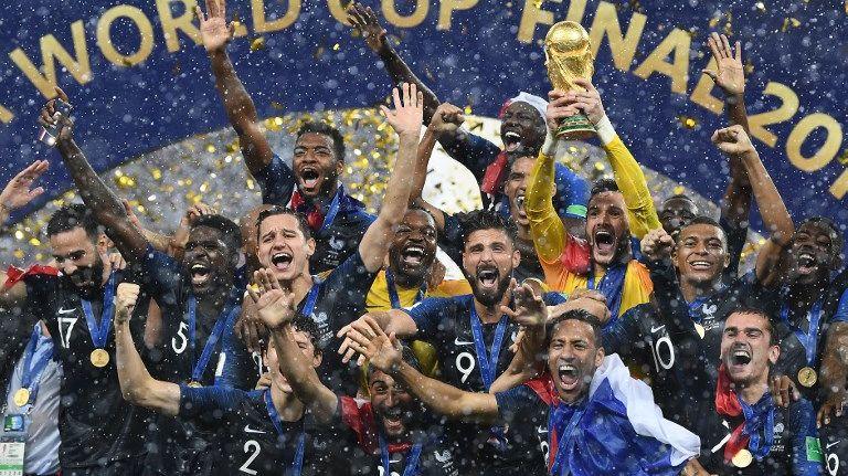 La France est championne du monde de football le 15 juillet 2018.