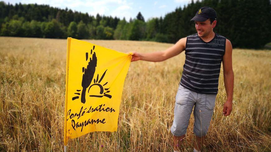 Jérémy Coley porte-parole de la confédération paysanne du Doubs