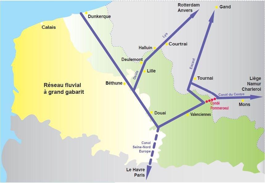 Réseau fluvial Hauts de France /Belgique