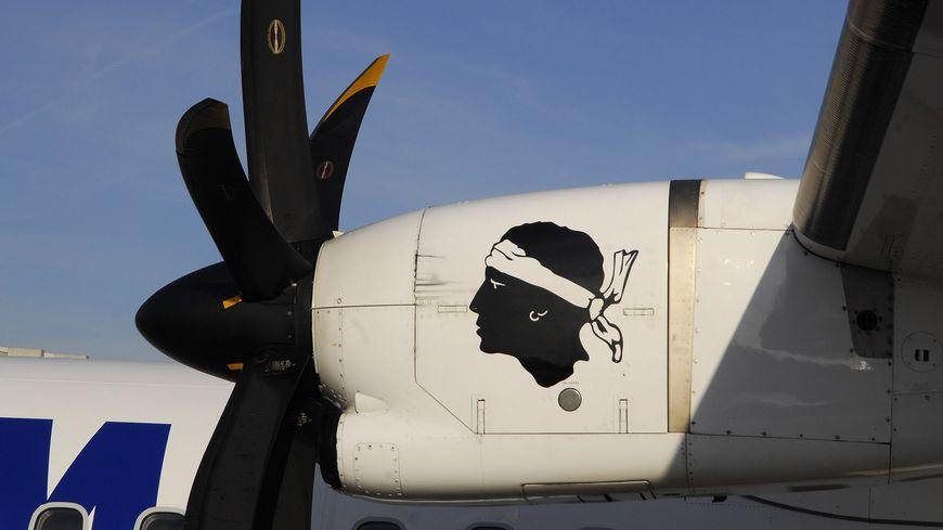 Un avion de la compagnie corse sur le tarmac