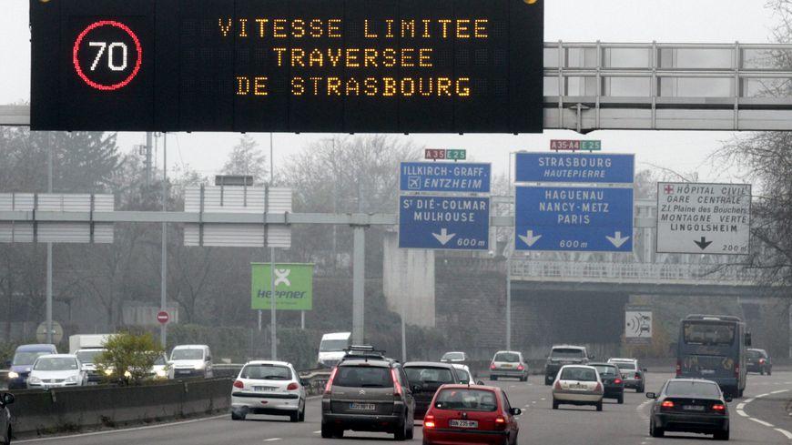 La vitesse sur le périphérique strasbourgeois est limitée à 70 km/h à partir de jeudi