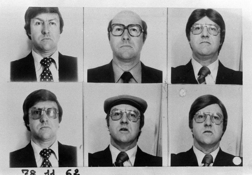 Des portraits de Jacques Mesrine, en novembre 1978.