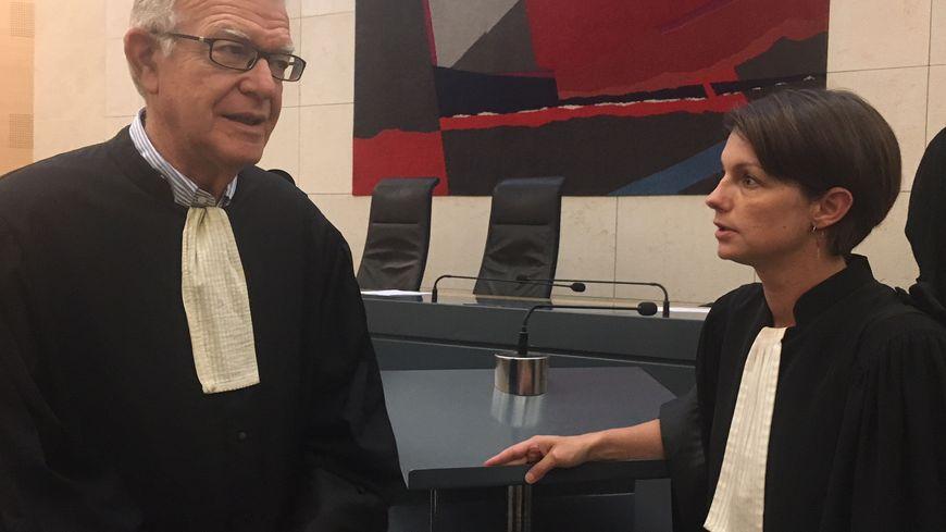 Maître Lemaire, avocat d'Abdelkader Kettaf et Maître Miot, conseil de Medhi Mamèche