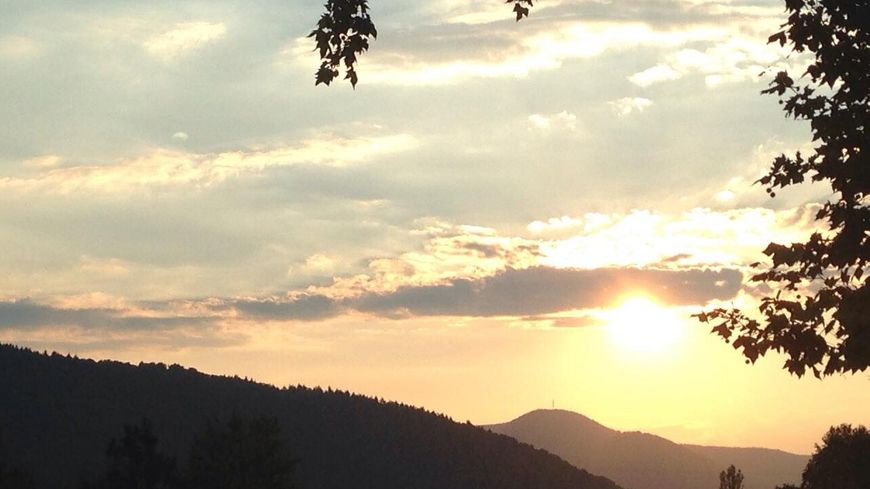 La vue impressionnante depuis Sélestat... Un régal pour les yeux !