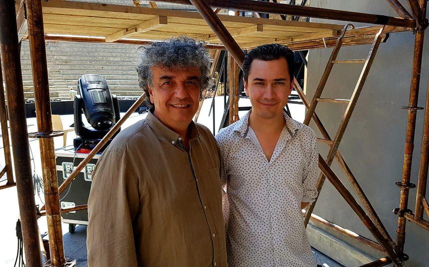 Vincent Payen, directeur dtechnique et Paulin Reynard, directeur de production des Chorégies.