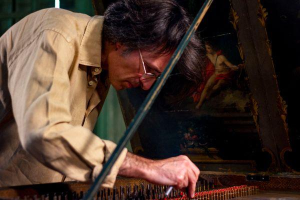 Frédérick Haas/ claveciniste/ coordinateur artistique de l'enregistrement des 555 sonates de Scarlatti par France Musique