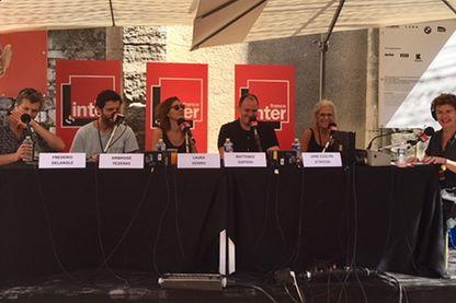 Brigitte Patient à Arles avec ses invités