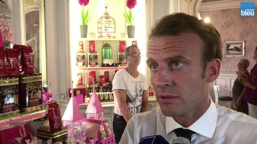Emmanuel Macron à Bagnères-de-Bigorre le 25 juillet 2018.