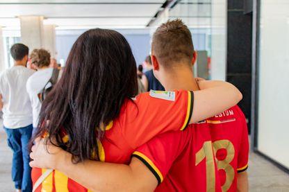 Les supporters belges déçus mais fair-play après la défaite de la Belgique en demi-finale de la coupe du monde de football