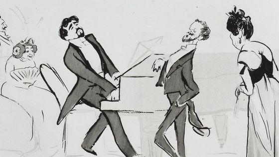 Une soirée chez Madeleine Lemaire : Reynaldo Hahn au piano.