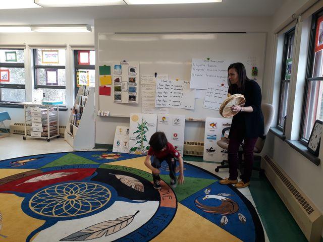 La maternelle de l'école Wahta de la communauté huronne-wendat au Québec