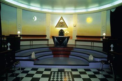 temple maçonnique au Grand Orient de France (ordre maçonnique français, rue Cadet, à Paris.