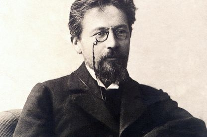 Portrait du dramaturge russe Anton Tchekov (Tchekhov ou Chekhov, 1860-1904) 1900 environ