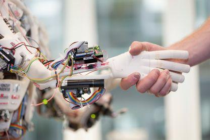 ROBOY, prototype de robot humanoïde développé par le laboratoire d'intelligence artificielle de l'Université de Zurich - 2013
