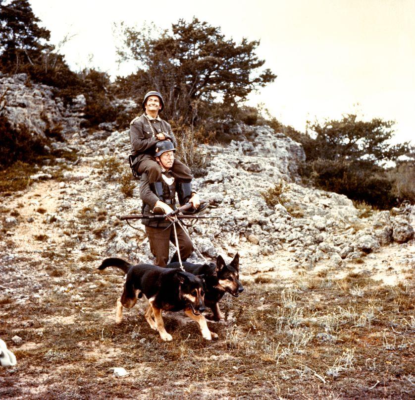 """Scène du film """"La Grande Vadrouille"""", G.Oury 1966"""