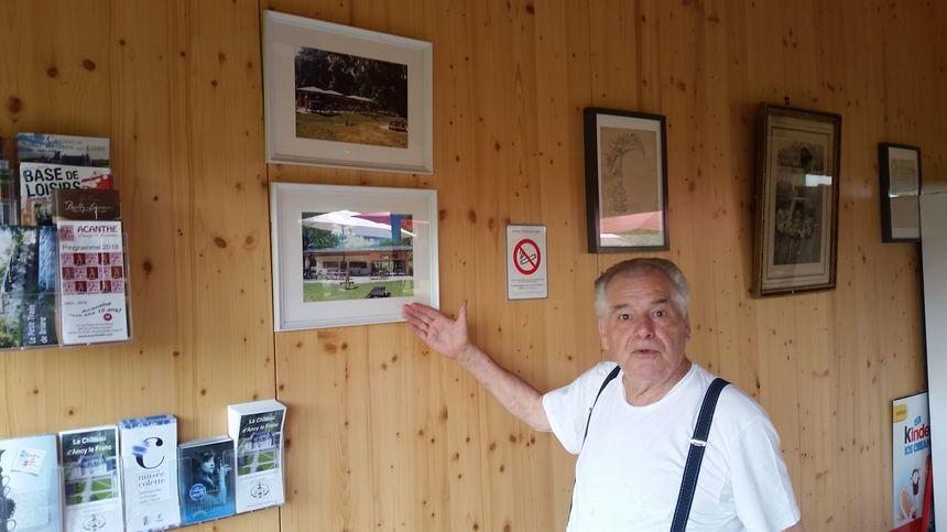 Avant/après. Gérard Rigaud, le gérant de la guinguette, montre les travaux réalisés