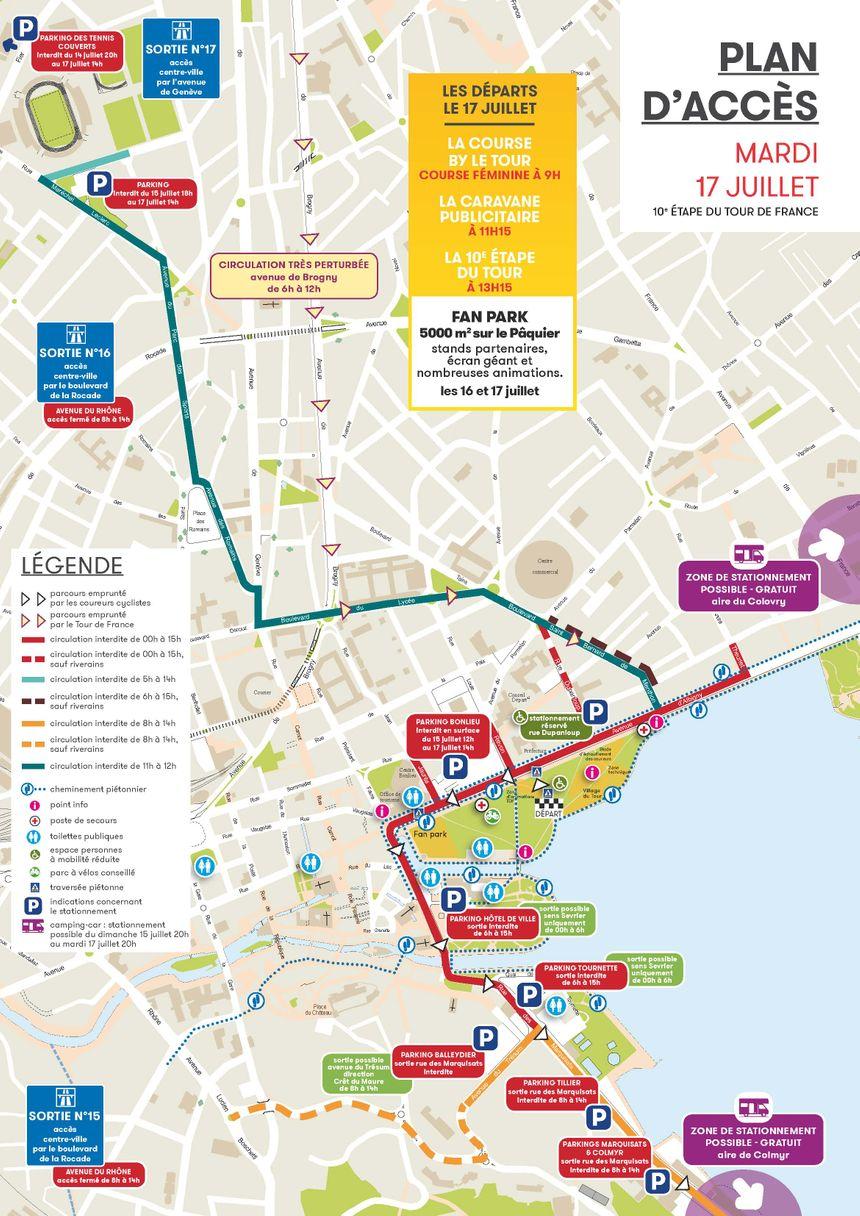 Le plan de circulation à Annecy.
