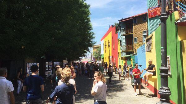 El Caminito : les maisons de toutes les couleurs du port de La Boca