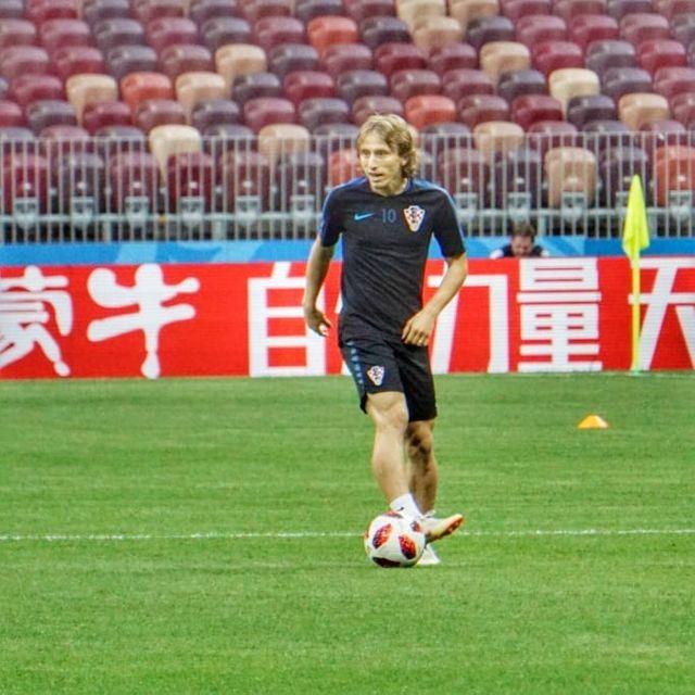 Luka Modric, capitaine de l'équipe de Croatie