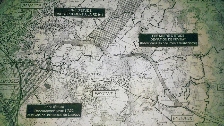 Le tracé de la future déviation de Feytiat contesté par une association de riverains