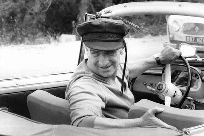 Louis de Funès sur un tournage en 1980