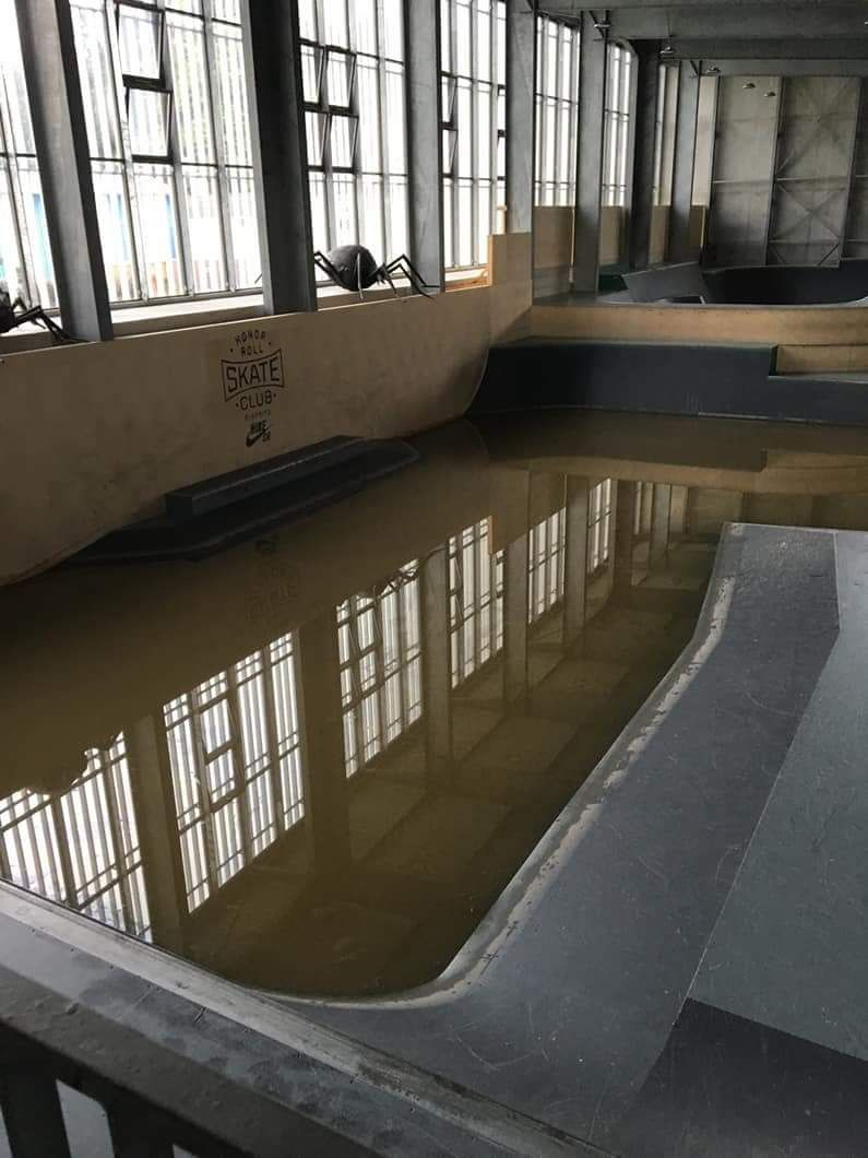 Le skatepark de Biarritz a aussi été inondé