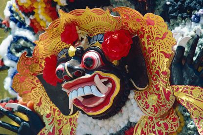 Masque funéraire à Bali, Indonésie