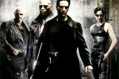 Détail de l'affiche de Matrix (1999) de Lana Wachowski et Lilly Wachowski avec Keanu Reeves