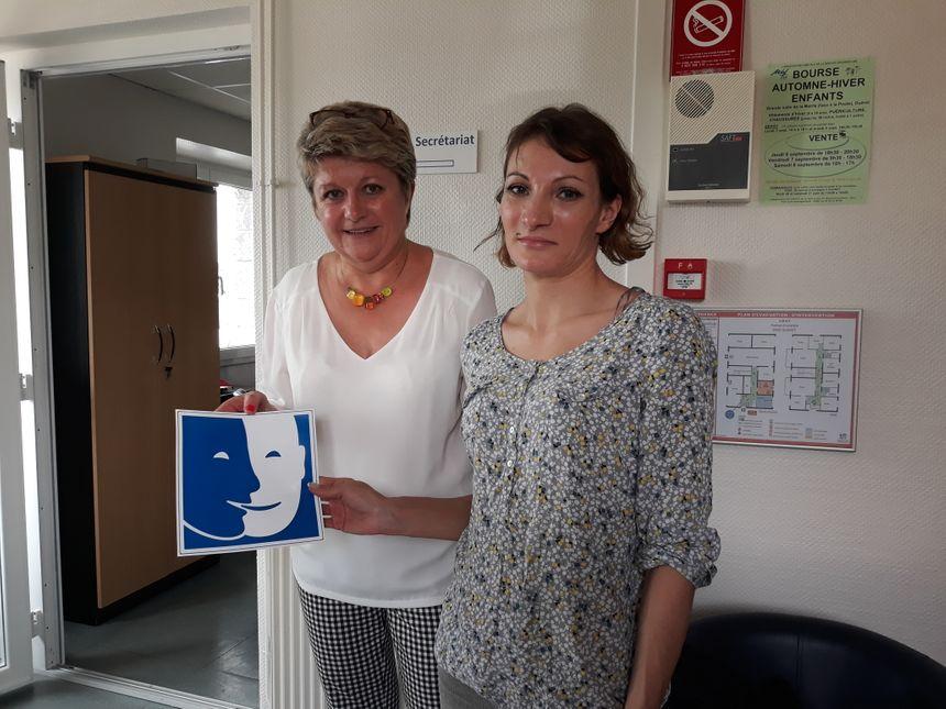 Christine Colin, assistante de direction à l'Udaf 23 et Sabrina, qui a donné tous les conseils pour améliorer l'accueil des personnes en situation de handicap mental. - Radio France