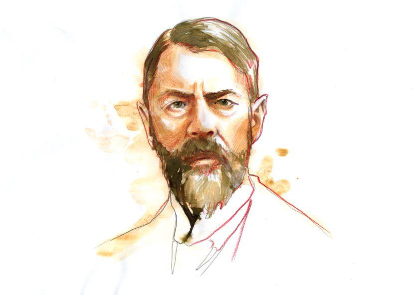 Portrait du sociologue allemand Max Weber (1864 - 1920)