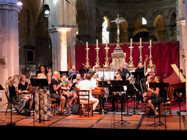 Répétition de l'Accademia bizantina et Ottavio Dantone le 27 juillet 2018 à Beaune