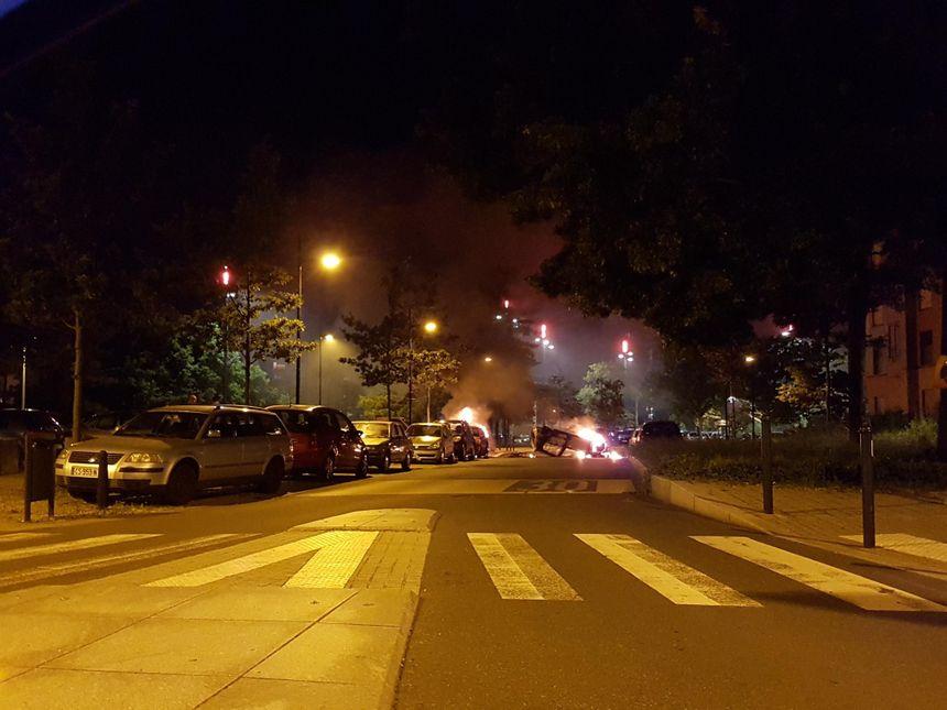 Nuit très agitée dans le quartier Malakoff de Nantes