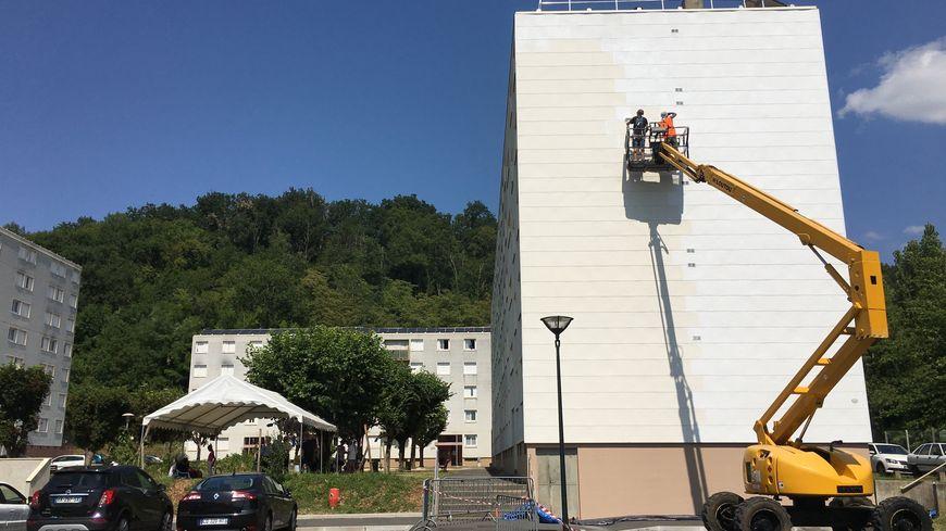 Une Marianne géante sera peinte sur la façade de cet immeuble du quartier du Toulon à Périgueux.